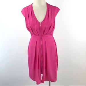 0eea8d82 H&M Women's Pink Zip Front Sheath Dress